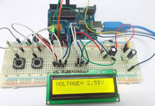 Внешний вид регулятора напряжения питания на Arduino Uno