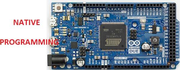 Встроенный USB порт для программирования Arduino Due