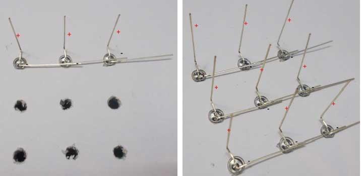 Формирование первого слоя светодиодного куба