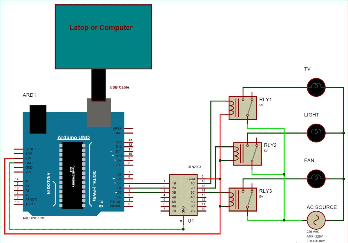 Схема автоматизации дома с использованием Arduino и MATLAB