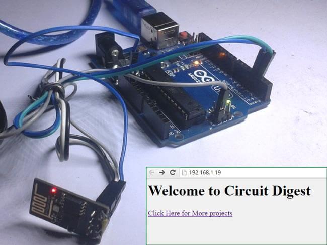 Передача данных от Arduino Uno на веб-страницу с помощью WiFi: внешний вид конструкции