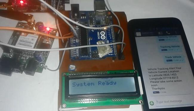 Внешний вид трекера за автомобилем на основе платы Arduino