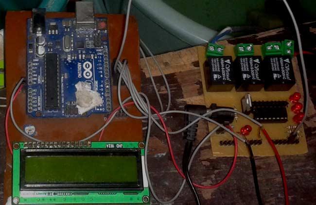 Внешний вид индикатора уровня воды на Arduino Uno