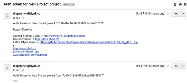 Присданный на Email код авторизации токена