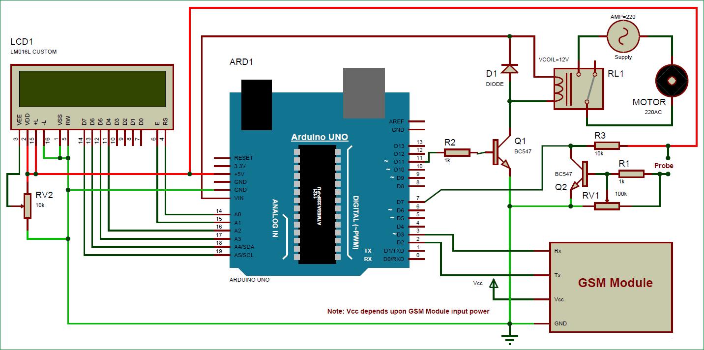 Схема автоматической системы полива растений на основе Arduino