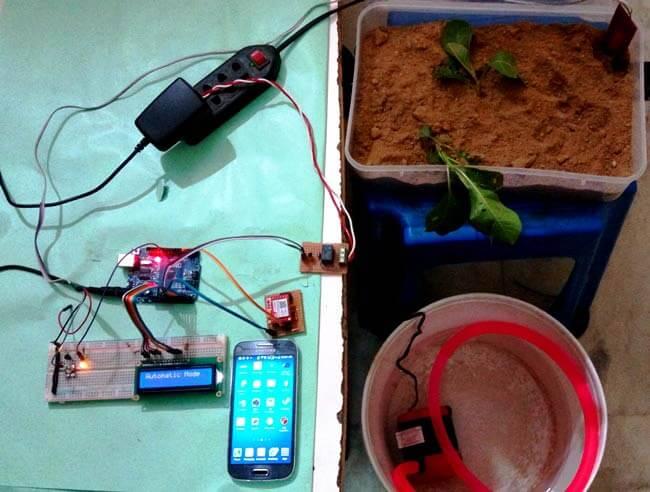 Внешний вид автоматической системы полива растений на основе Arduino