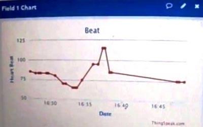 График сердечного ритма на ThingSpeak.com
