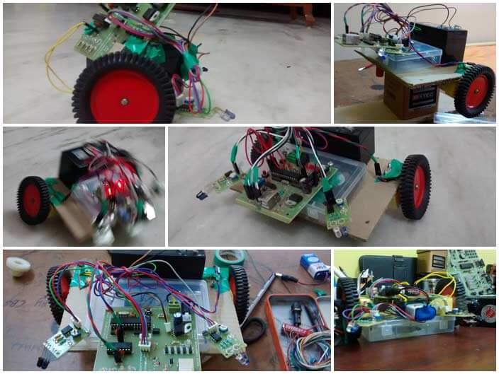 Уменьшенная версия вакуумного чистящего робота-пылесоса