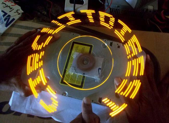 Внешний вид вращающегося светодиодного дисплея на Arduino