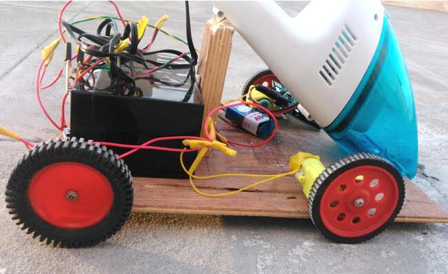 Внешний вид вакуумного чистящего робота на Arduino
