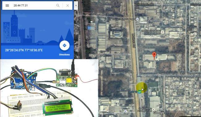 Отслеживание местоположения автомобиля на Google Maps с помощью Arduino, ESP8266 и GPS: внешний вид проекта