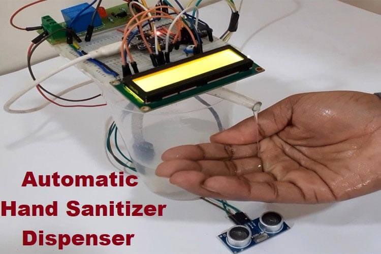 Внешний вид автоматического дозатора дезинфицирующего средства с трекером коронавируса на ESP32