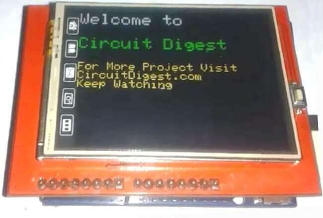 Внешний вид TFT ЖК дисплея для Arduino Uno