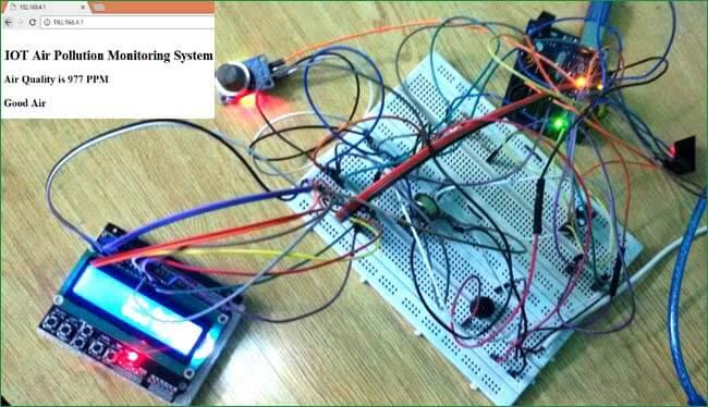 Внешний вид системы мониторинга загрязнения воздуха на основе Arduino