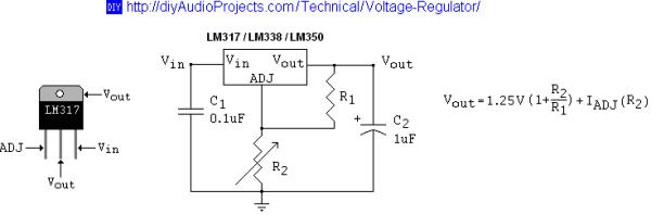 Схема стабилизатора тока с использованием микросхемы LM338K