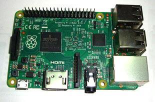 Внешний вид платы Raspberry Pi 2 Model B