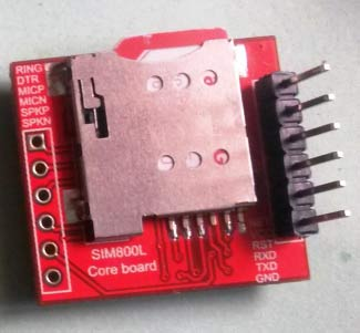 Тыльная сторона TTL SIM800 GSM модуля