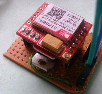 Внешний вид TTL SIM800 GSM модуля