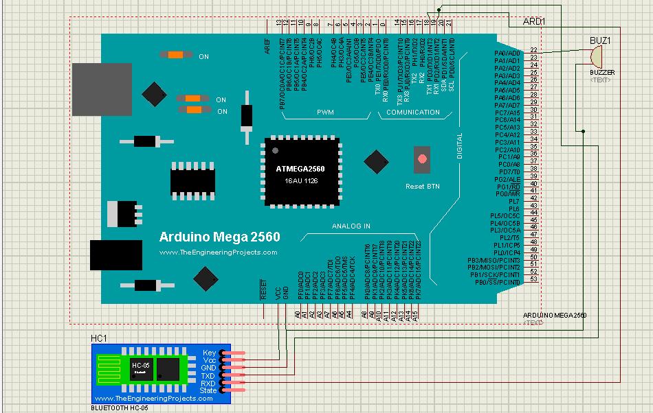 Схема цифрового кодового замка на Arduino управляемого со смартфона