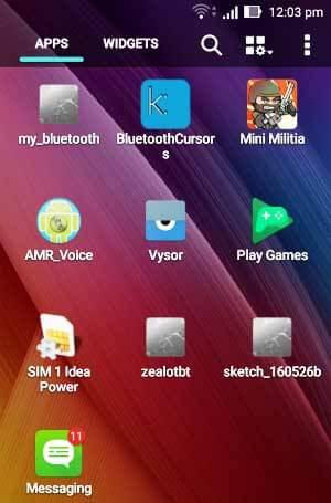 Установленное мобильное приложение для управления радаром