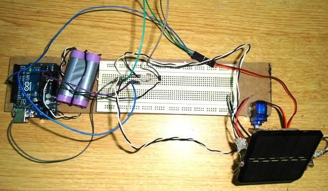 Внешний вид солнечной панели на основе Arduino, следующей за Солнцем