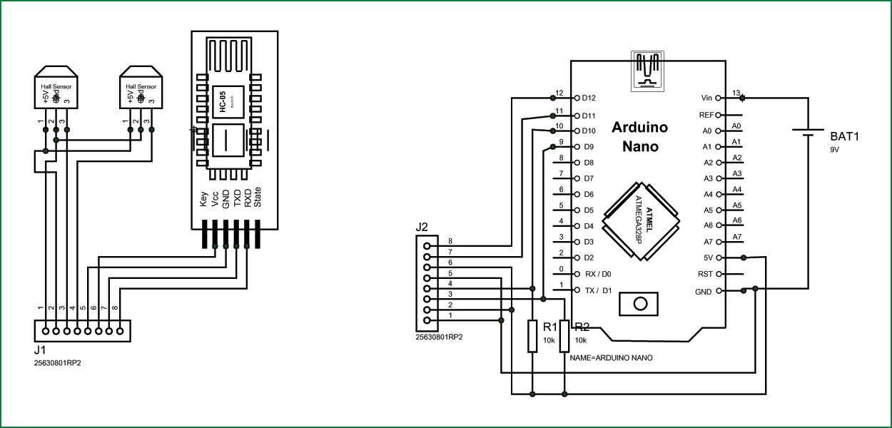 Схема проекта виртуальной реальности на основе Arduino Nano
