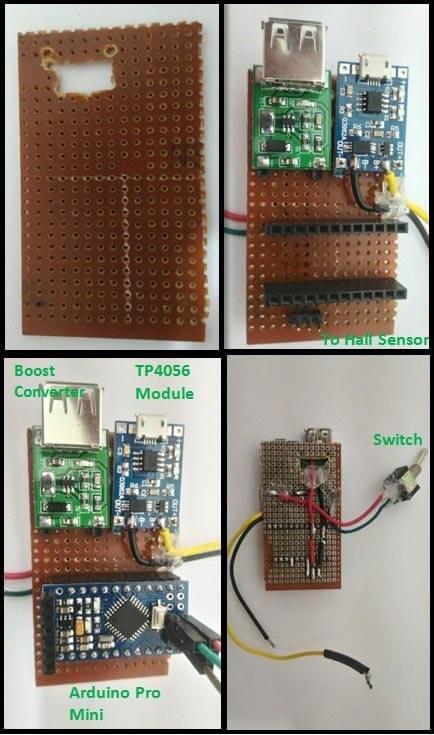 Последовательность сборки главной платы спидометра на основе Arduino
