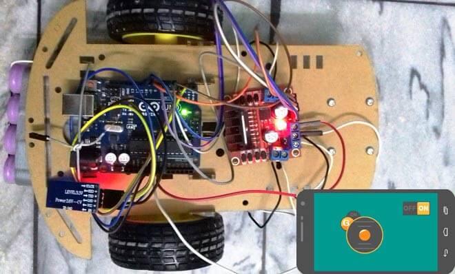 Внешний вид машины на Arduino, управляемой с мобильного телефона