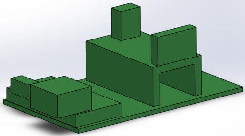 3D модель основной платы спидометра