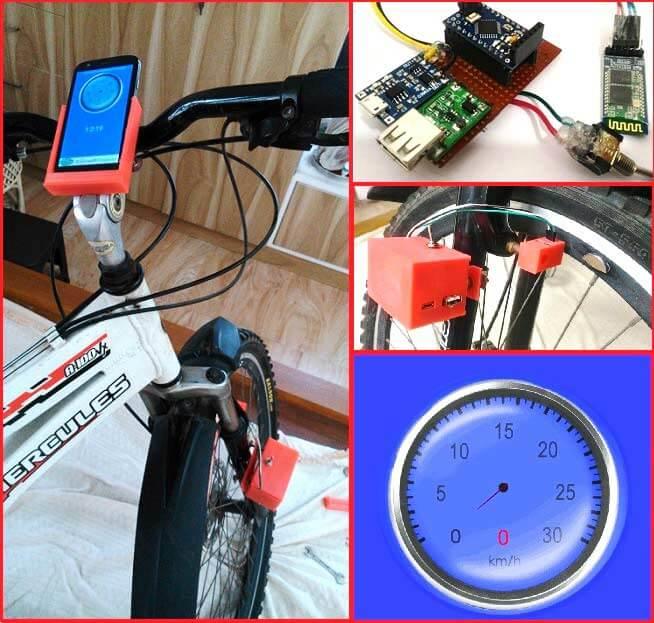 Внешний вид спидометра на основе платы Arduino