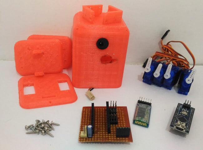 Внешний вид комплектующих для сборки робота