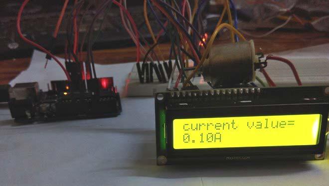Внешний вид цифрового амперметра на основе платы Arduino Uno