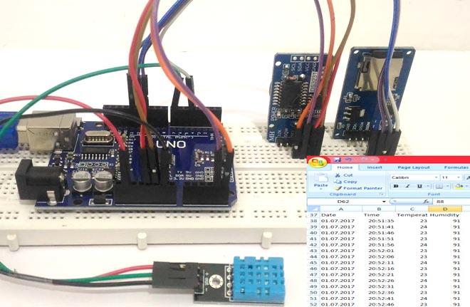Внешний вид логгера данных на Arduino