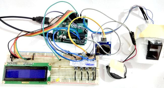 Внешний вид биометрической системы посещаемости c использованием Arduino