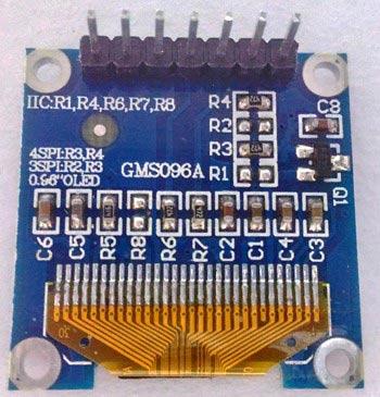 Контакты OLED дисплея SSD1306