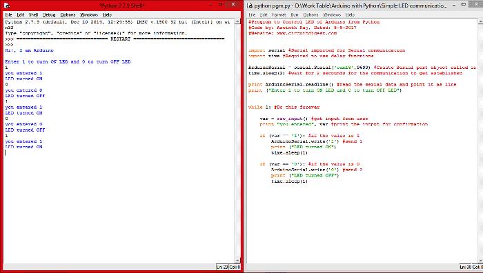 Внешний вид окон Python в нашем проекте