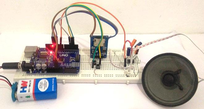 Внешний вид аудиоплеера и усилителя на Arduino Uno