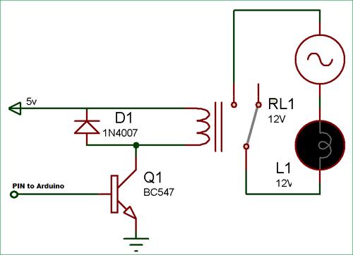 Внутренняя схема соединений реле