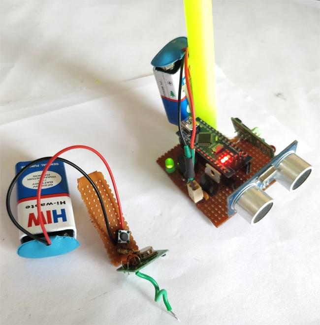 Тестирование работы умной трости