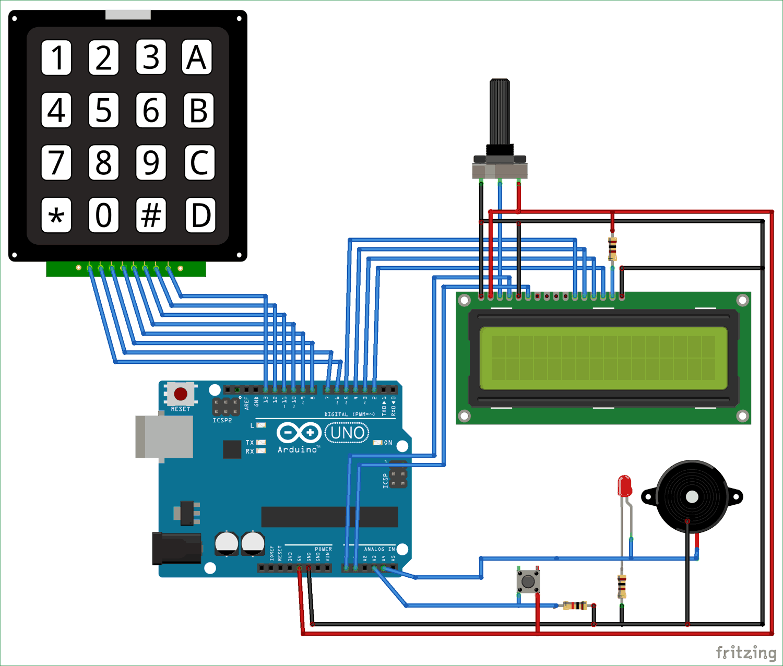 Схема таймера обратного отсчета на основе платы Arduino