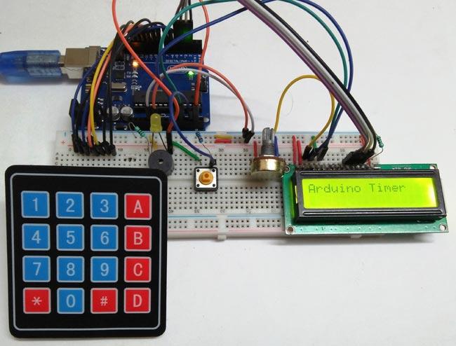 Внешний вид таймера обратного отсчета на Arduino