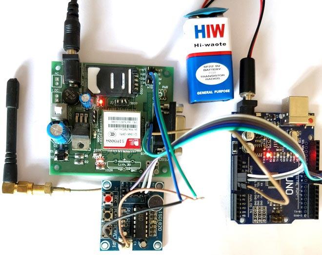 Внешний вид автоответчика с использованием Arduino и GSM модуля
