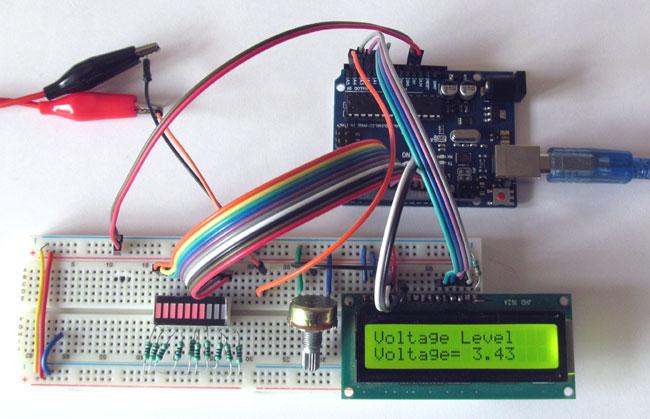 Внешний вид индикатора заряда батареи на Arduino