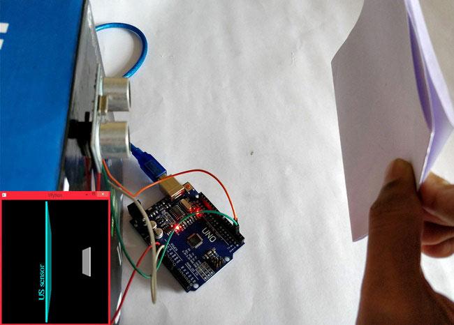 Внешний вид конструкции для взаимодействия VPython с Arduino