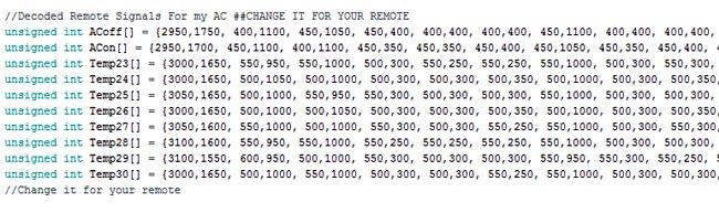 Коды, подлежащие замене в вашей программе