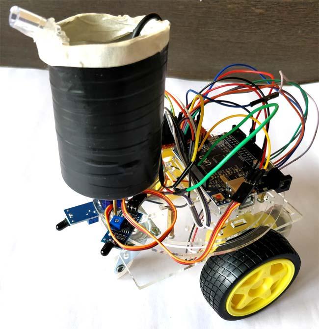 Внешний вид робота для борьбы с огнем на основе Arduino