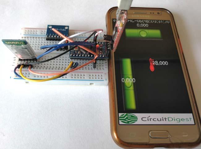 Внешний вид измерителя уровня на основе Arduino и MPU6050