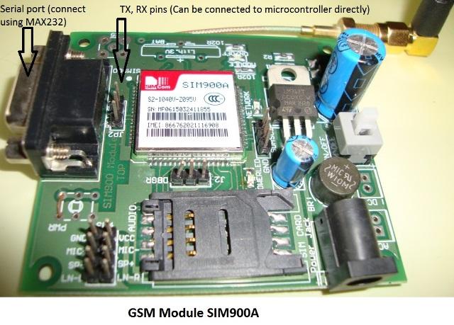 Внешний вид GSM модуля Fly Scale SIM900