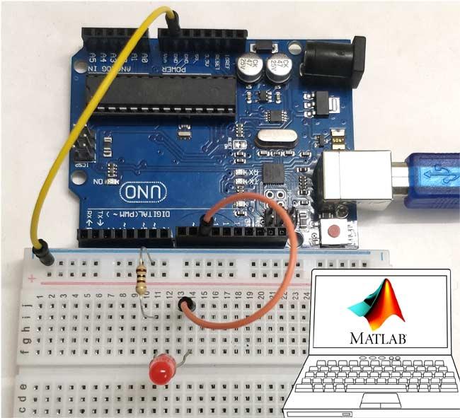 Внешний вид проекта для взаимодействия Arduino и MATLAB