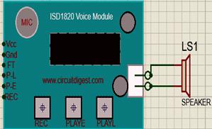 Распиновка голосового модуля ISD 1820